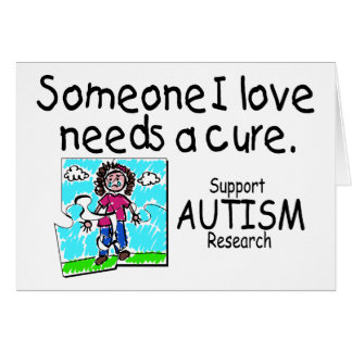 Someone I love Needs A Cure (Girl Crying) Card