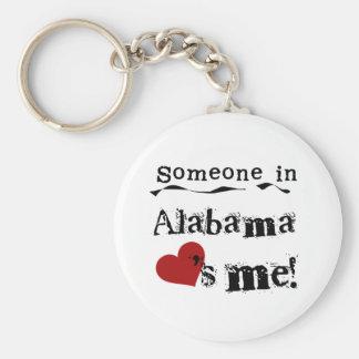 Someone In Alabama Loves Me Basic Round Button Key Ring