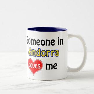 Someone in Andorra loves me Two-Tone Coffee Mug