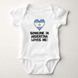 Someone In Argentina Loves Me Baby Bodysuit