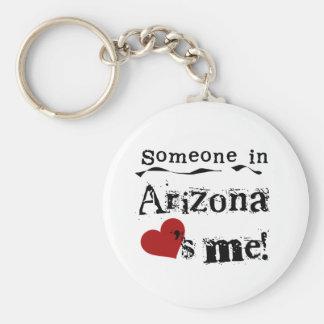 Someone In Arizona Loves Me Key Ring