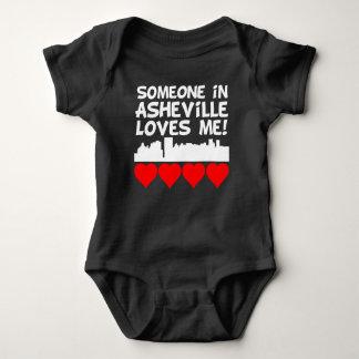 Someone In Asheville North Carolina Loves Me Baby Bodysuit