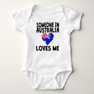 Someone In Australia Loves Me Baby Bodysuit