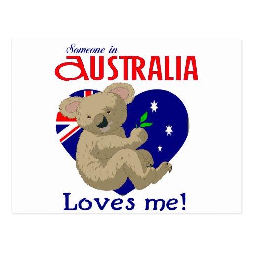 Someone in Australia Loves Me  Koala Postcards