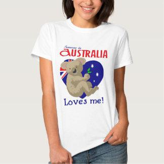 Someone in Australia Loves Me  Koala Shirts