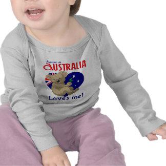 Someone in Australia Loves Me  Koala Tees