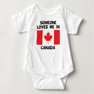 Someone In Canada Loves Me Baby Bodysuit