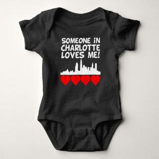 Someone In Charlotte North Carolina Loves Me Baby Bodysuit
