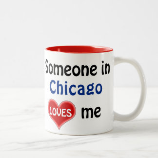 Someone in Chicago loves me Two-Tone Mug