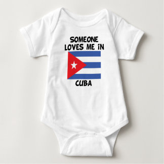 Someone In Cuba Loves Me Baby Bodysuit