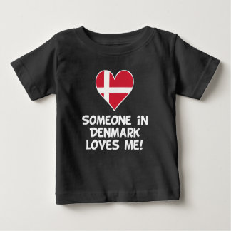 Someone In Denmark Loves Me Baby T-Shirt
