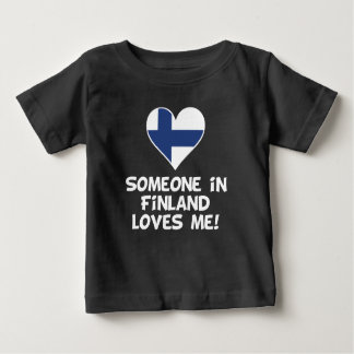 Someone In Finland Loves Me Baby T-Shirt