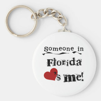 Someone In Florida Loves Me Basic Round Button Key Ring