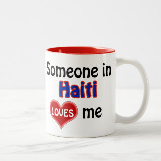 Someone in Haiti loves me Two-Tone Coffee Mug