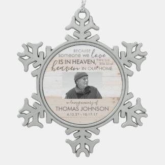 Someone In Heaven Snowflake Photo Ornament