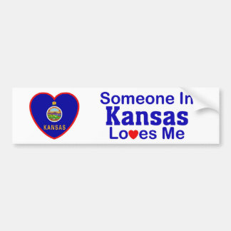 Someone In Kansas Loves Me Bumper Sticker