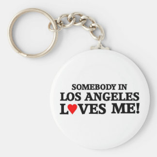 Someone in Los Angeles Key Ring
