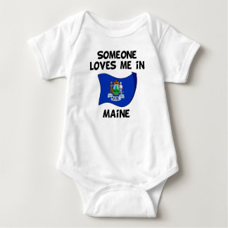 Someone In Maine Loves Me Baby Bodysuit