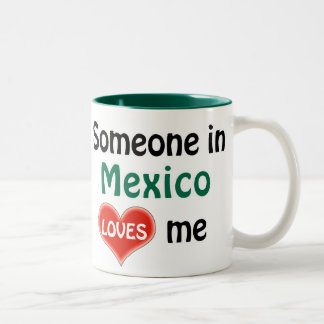 Someone in Mexico loves me Two-Tone Coffee Mug