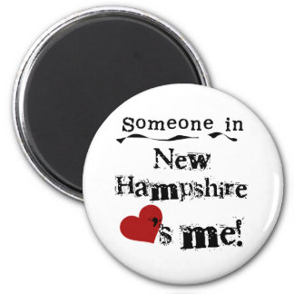 Someone In New Hampshire Loves Me 6 Cm Round Magnet
