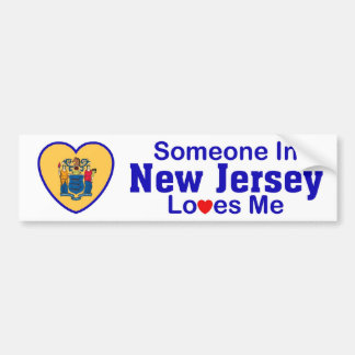 Someone In New Jersey Loves Me Bumper Sticker