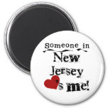 Someone In New Jersey Loves Me Fridge Magnets