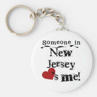 Someone In New Jersey Loves Me Key Ring