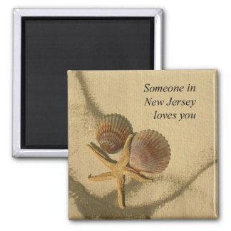 Someone In New Jersey Loves You-Beach Shells Magnet