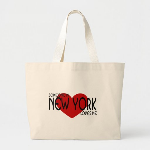 Someone in New York Loves Me Canvas Bags