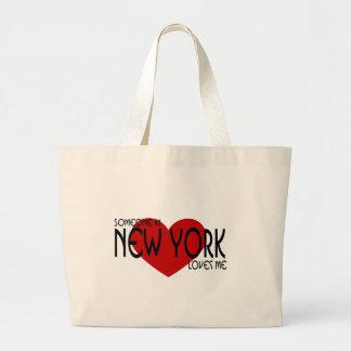 Someone in New York Loves Me Jumbo Tote Bag