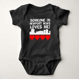 Someone In Newport News Virginia Loves Me Baby Bodysuit