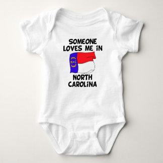 Someone In North Carolina Loves Me Baby Bodysuit