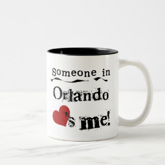 Someone in Orlando Two-Tone Coffee Mug