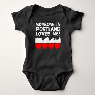 Someone In Portland Maine Loves Me Baby Bodysuit