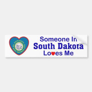 Someone In South Dakota Loves Me Car Bumper Sticker