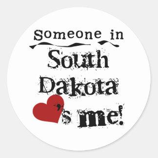 Someone In South Dakota Loves Me Round Sticker