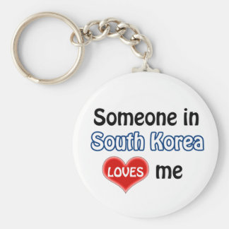 Someone in South Korea Loves me Key Ring
