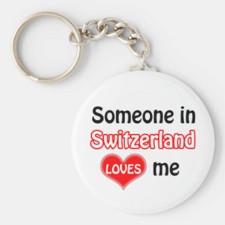 Someone in Switzerland Loves me Key Ring
