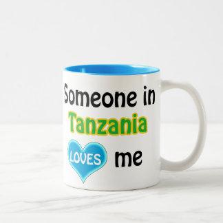 Someone in Tanzania loves me Two-Tone Coffee Mug