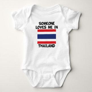 Someone In Thailand Loves Me Baby Bodysuit
