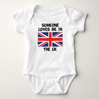 Someone In the UK Loves Me Baby Bodysuit