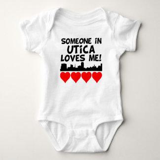 Someone In Utica New York Loves Me Baby Bodysuit