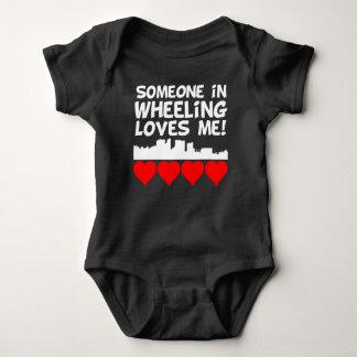 Someone In Wheeling West Virginia Loves Me Baby Bodysuit
