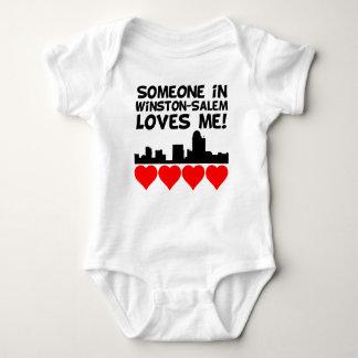 Someone In Winston-Salem North Carolina Loves Me Baby Bodysuit