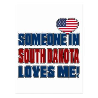 SOMEONE LOVES ME IN SOUTH DAKOTA POSTCARD