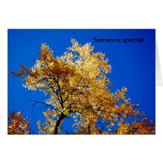Someone special greeting card