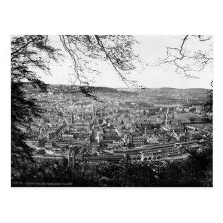 Somerset, U.K., Bath City panorama  c1895 Postcard