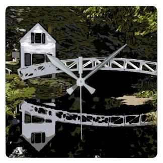 SOMESVILLE BRIDGE SQUARE WALL CLOCK