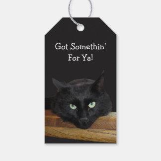 Somethin For Ya Black Cat Gift Tags