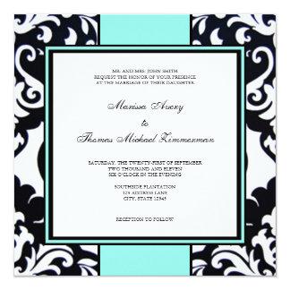 Something Blue 13 Cm X 13 Cm Square Invitation Card